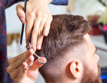 Undercut hair style men San Diego, Orange County CA